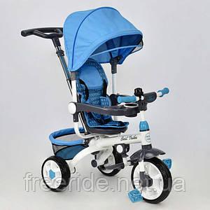 Детский трехколесный Велосипед Best Trike DT 128 (голубой)