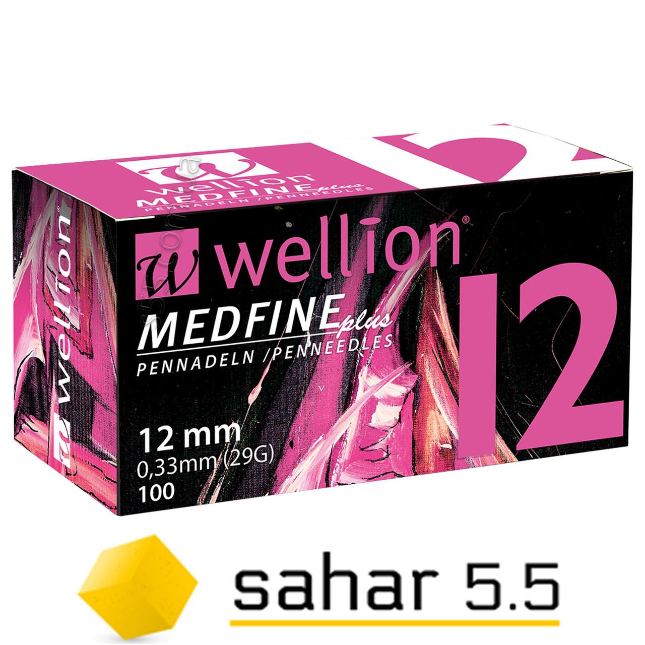 Иглы Веллион Медфайн Плюс 12мм, 100шт. - Wellion Medfine Plus 29G