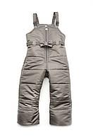 Зимний полукомбинезон для девочек, детские зимние штаны на подтяжках , водоотталкивающие(2-8лет)