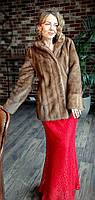 Шубка норковая классическая орех Модель 28495768, фото 1