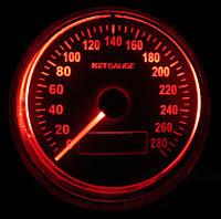 Дополнительный прибор спидометр Ket Gauge 37601 RED с отсечкой Ø95мм тюнинговые автомобильные измерительные приборы индикаторы автоприборы
