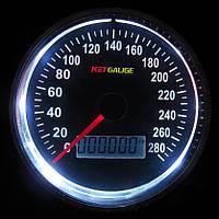 Дополнительный прибор спидометр Ket Gauge 37601 WH с отсечкой Ø95мм тюнинговые автомобильные измерительные приборы индикаторы автоприборы