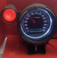 Дополнительный прибор спидометр Ket Gauge 37601 BL с отсечкой Ø95мм тюнинговые автомобильные измерительные приборы индикаторы автоприборы
