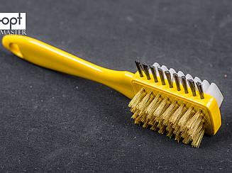 Щётка для замши и нубука (металл+резина) жёлтая, sk-12