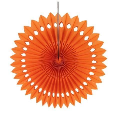 Гирлянда веер оранжевая - диаметр 20см