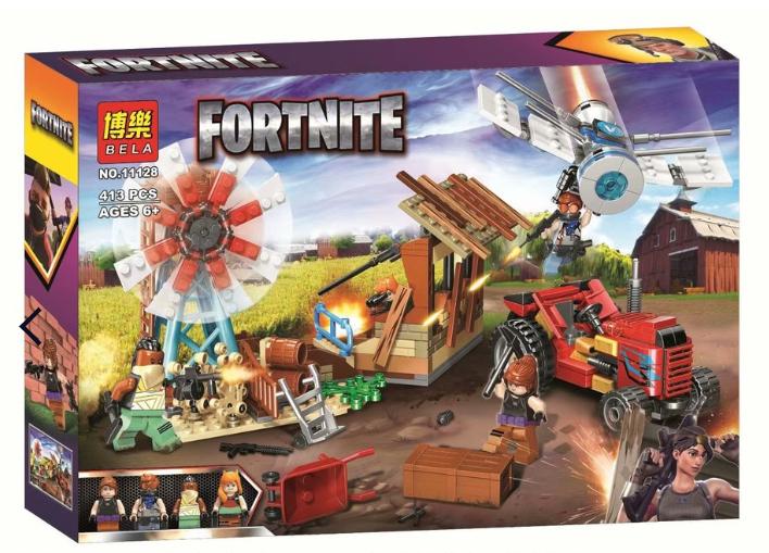 Конструктор Fortnite Битва на ферме, 413 деталей (аналог Лего)