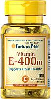 Витамин Puritan's Pride - Vitamin E 180 мг (400 IU) (100 капсул)