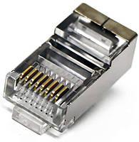 Коннектор Джек экранированный RJ-45 (8P8C) для FTP кабеля ST519-1
