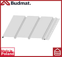 Софит Budmat ( белый ). Панель будмат 3 х 0,34 м. Софит сплошной.