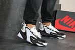 Чоловічі кросівки Nike Zoom 2K (біло-чорні), фото 4