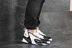 Чоловічі кросівки Nike Zoom 2K (біло-чорні), фото 6