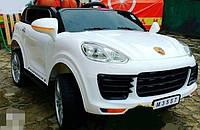 Детский электромобиль Порш Porsche M 3557 EBLR-1 белый (красный), музыка, свет, колеса EVA, USB.