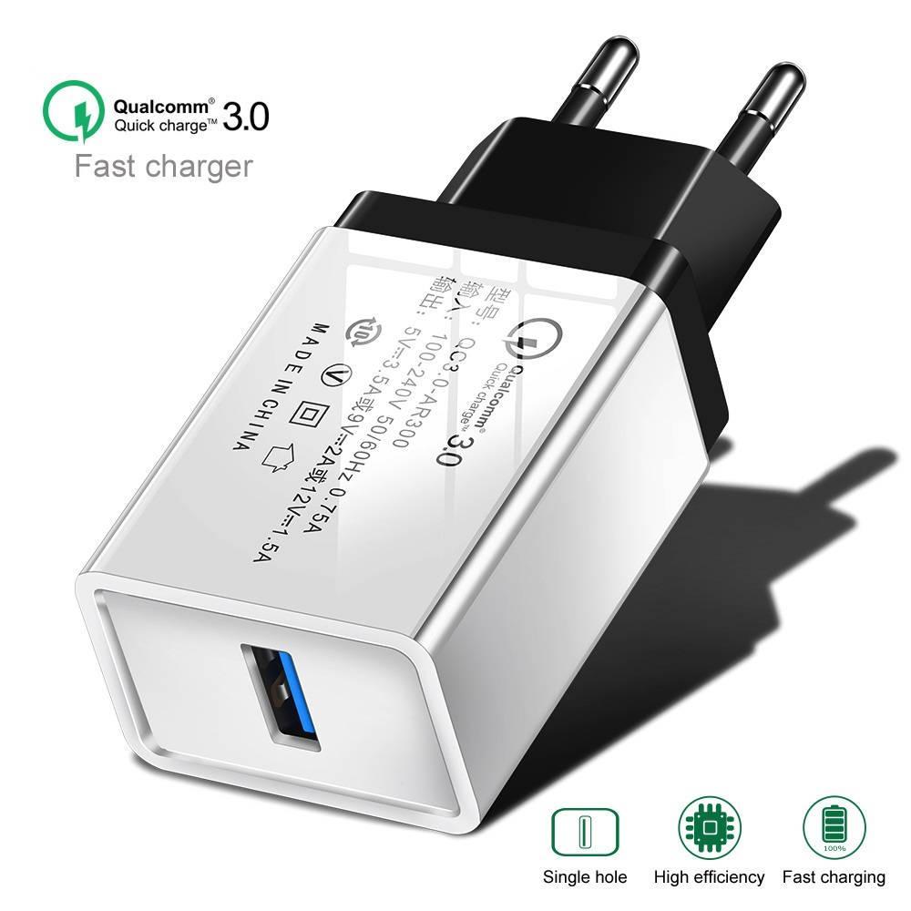 Быстрая зарядка Qualcomm Quick Charge 3.0 Сетевое универсальное зарядное USB