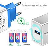 Быстрая зарядка Qualcomm Quick Charge 3.0 Сетевое универсальное зарядное USB, фото 3