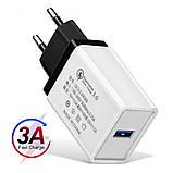 Быстрая зарядка Qualcomm Quick Charge 3.0 Сетевое универсальное зарядное USB, фото 6