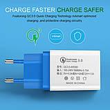 Быстрая зарядка Qualcomm Quick Charge 3.0 Сетевое универсальное зарядное USB, фото 4
