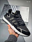Чоловічі кросівки Adidas Nite Jogger (чорно/білі), фото 5