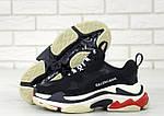 Кросівки Balenciaga Triple S (чорно-біло-червоні) Унісекс, фото 3