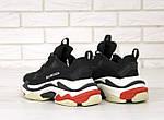 Кросівки Balenciaga Triple S (чорно-біло-червоні) Унісекс, фото 8