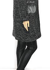 Кардиган пальто з капюшоном із букле, фото 3