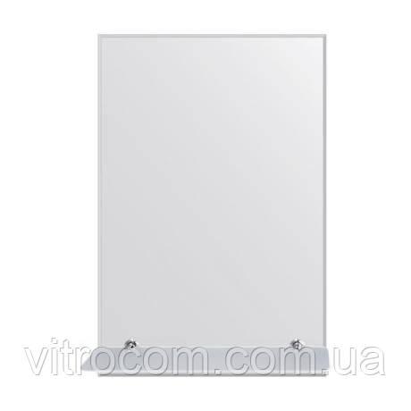 Зеркало прямоугольное с полкой для ванной 49х34 см