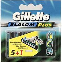 Змінні картриджі Gillette Slalom Plus зі зволожуючою стрічкою