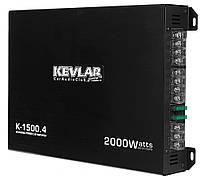 Усилитель Звука Автомобильный Kevlar K-1500.4 2000Вт 4-х канальный, фото 1