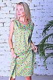 Модное легкое летнее платье,ткань летний джинс-стрейч,размеры:44,46,48,50., фото 2