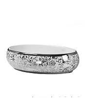 Чаша керамическая накладная NEWARC Countertop 60 (5015S-W) Декор серебро