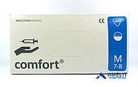"""Перчатки латексные Комфорт (Comfort, Mercator Medical), размер """"M"""", опудренные, 50пар/упак."""