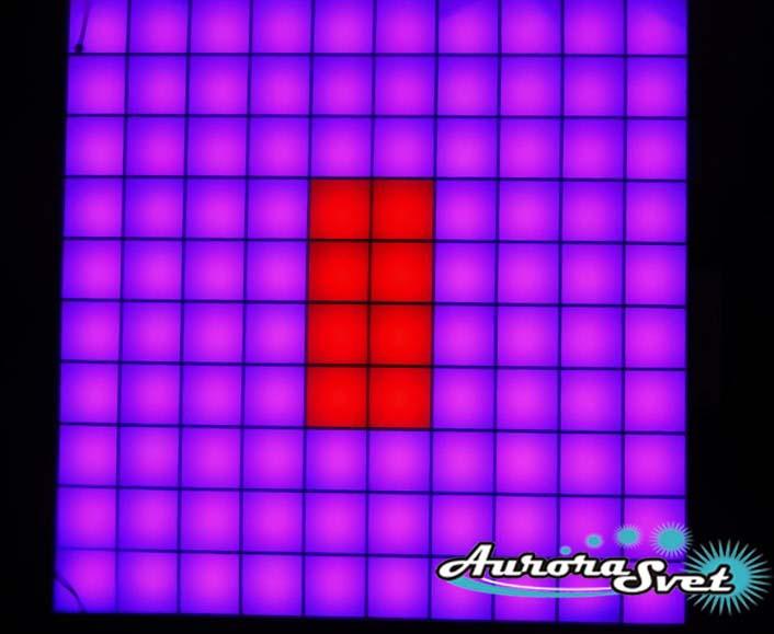 Светодиодная пиксельная панель напольная F-100-10*10-1-P
