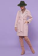 Стильне демісезонне жіноче шерстяне пальто