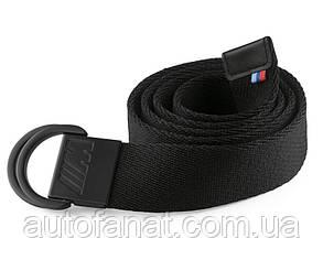 Оригинальный текстильный ремень BMW M Belt, Unisex, Black (80162410912)