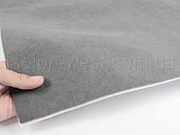 Автовелюр самоклейка серый, на поролоне лист 58х100см