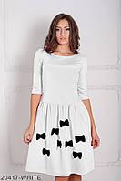 Симпатичное кукольное платье с белыми бантами на юбке Sevani