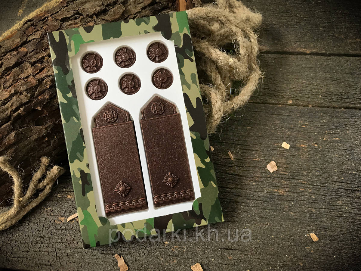 Шоколадные погоны майора для мужа