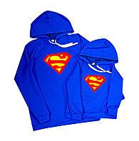 Худи с капюшоном комплект папа-сын - Супермен