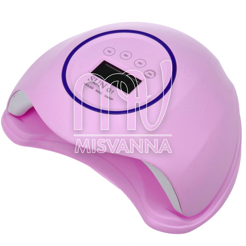 УФ лампа UV+LED SUN Q1 на 48 Вт для сушіння гелю і гель-лаку, лілова