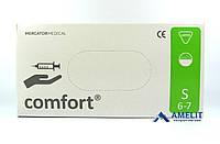 """Перчатки латексные Комфорт (Comfort, Mercator Medical), размер """"S"""", опудренные, 50пар/упак."""