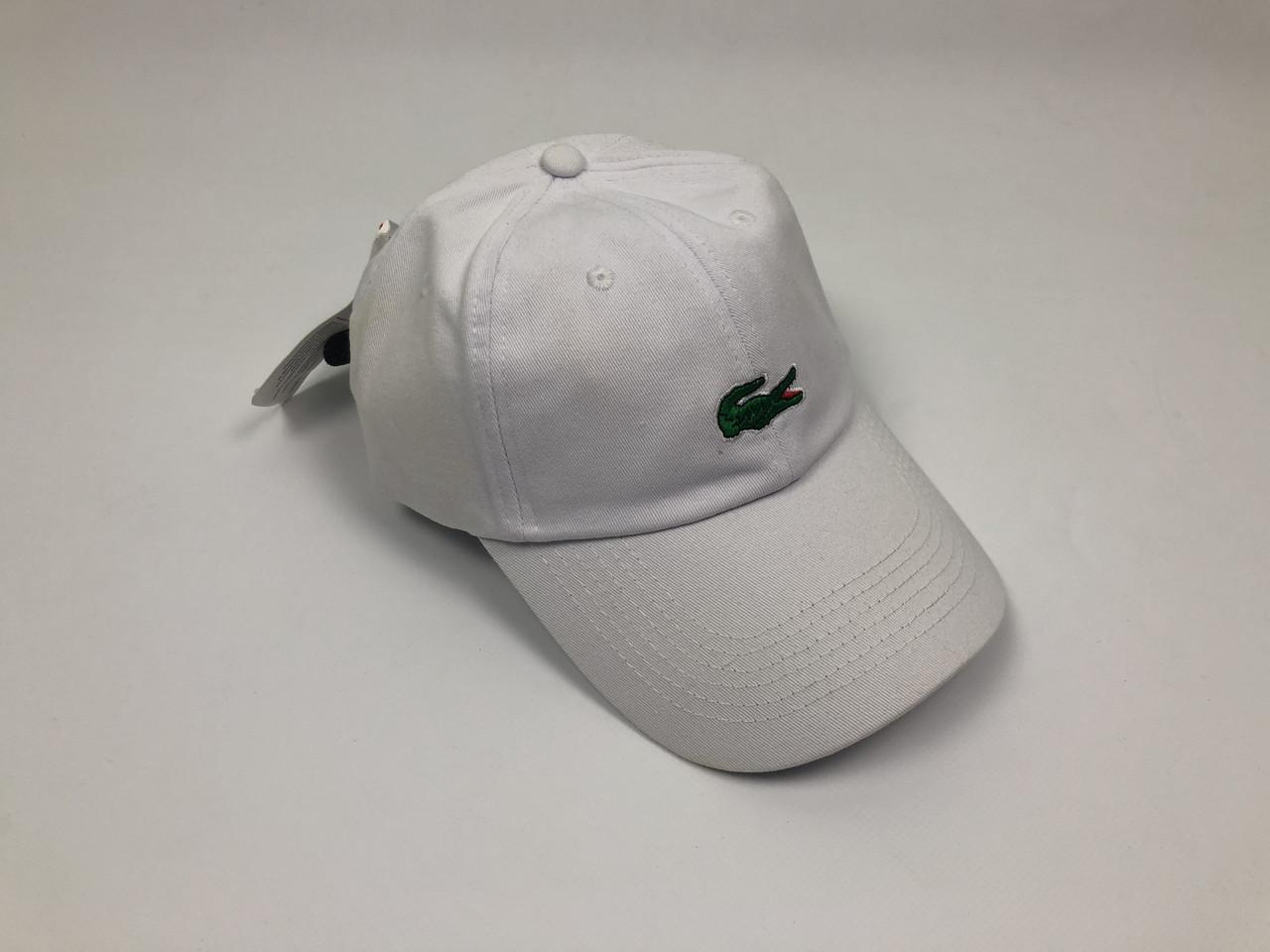 Кепка бейсболка Lacoste большое лого (белая)