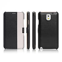 Чехол iCarer для Samsung Galaxy Note 3 Colorblock Black/White (side-open)