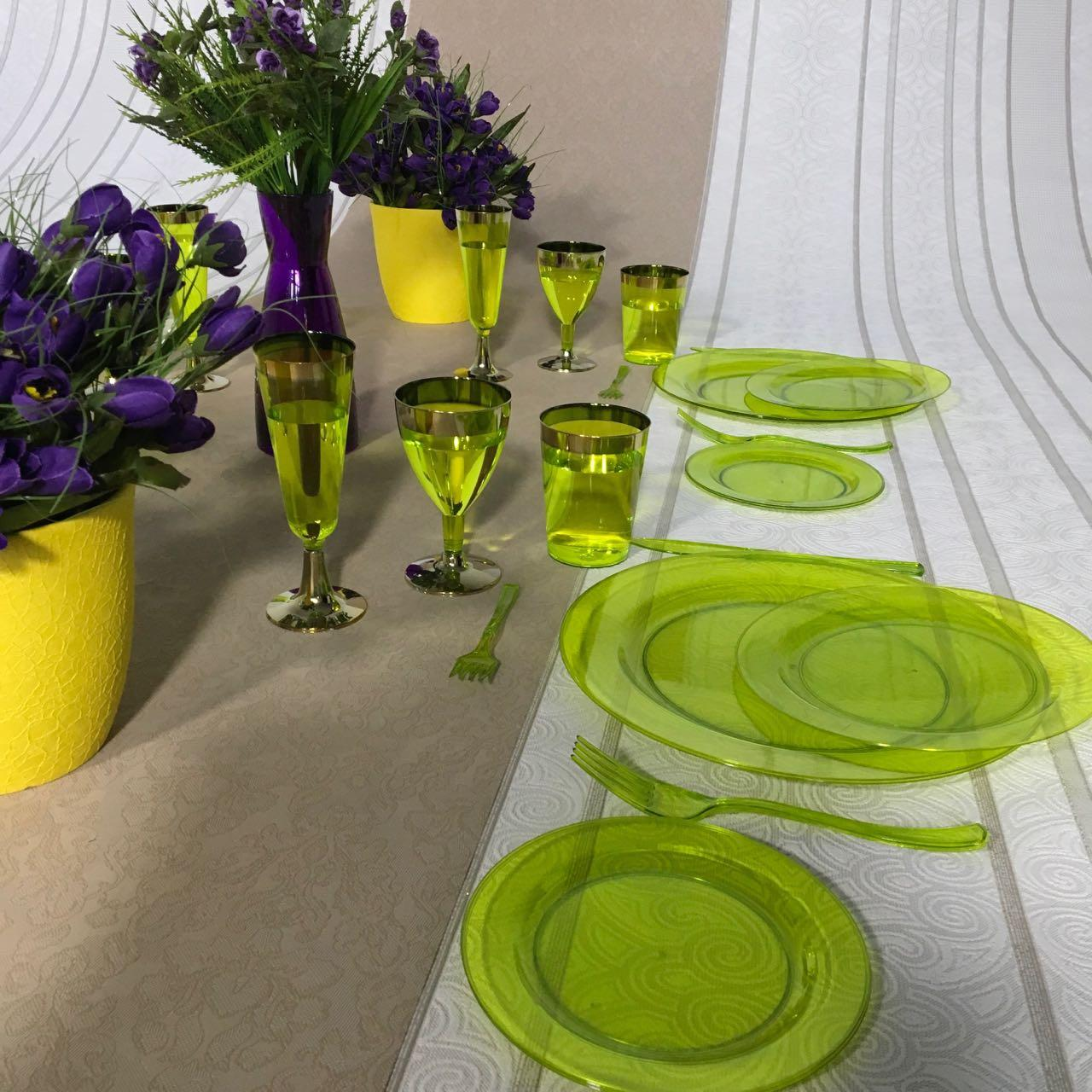 Тарелки стеклопластик многоразовые оптом от производителя для ресторанов ,кейтеринга, хореки CFP 6 шт 260 мм