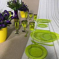 Тарелки стеклопластик многоразовые оптом от производителя для ресторанов ,кейтеринга, хореки CFP 6 шт 260 мм, фото 1