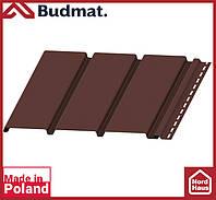 Софит Budmat ( темно коричневый ). Панель будмат 3 х 0,34 м. Софит сплошной.