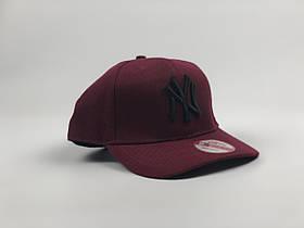 Снэпбек New York Yankees - бордовая