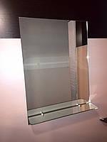 Дзеркало з полицею для ванної 70х50 см