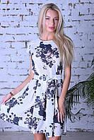 Нарядное летнее платье,ткань полированный штапель,размеры:44,46,48,50., фото 1
