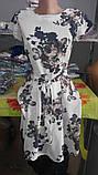 Нарядное летнее платье,ткань полированный штапель,размеры:44,46,48,50., фото 3