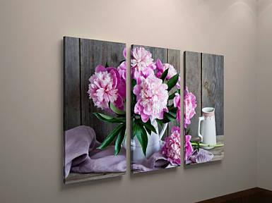 Фотокартина модульная цветы пионы букет натюрморт