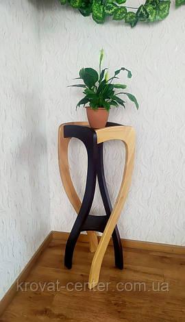 """Подставка для цветов из натурального дерева """"Адель"""" от производителя, фото 2"""